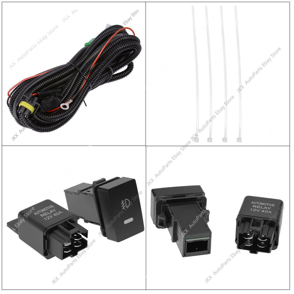Rh U0026lh Fog Light W   Bulb Switch Wiring K For Suzuki Sx4
