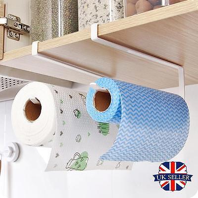 Kitchen Roll Holder Stainless Steel Sucker Tissue Paper Towel  Rack Over Door