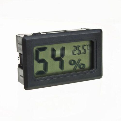 Black Meter Gauge Monitor indoor humidity digital thermometer hygrometer LCD