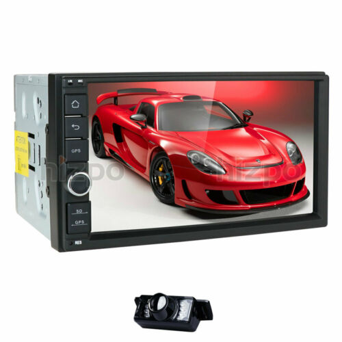 """Octa-Core Android 10 4GB RAM 7"""" Double 2DIN Car GPS Navigation Stereo Radio+Cam"""