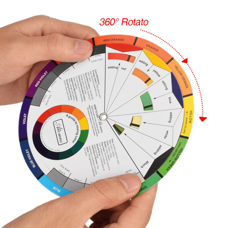 2020 NEW Color Wheel Mixing Guide for Tattoo Makeup Hobby Painting Supply sd5g