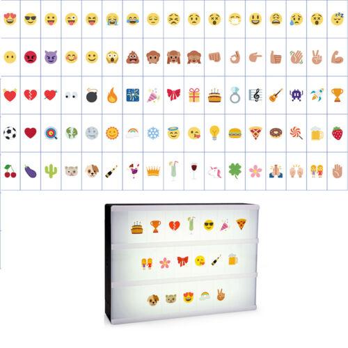 85pcs Cinematic A4 Light Up Box Emoji Letter Mood Card LED D