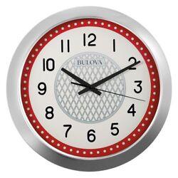 Bulova Juke Box Wall Clock With Bluetooth Speaker - Quiet Sweep C4855