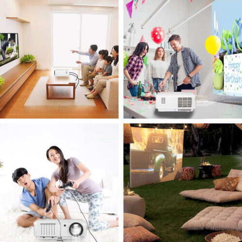 LED LCD Home Theater Video Projector Multimedia Game Movie HDMI HD 1080p USB VGA