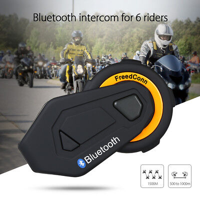 Freedconn T-MAX Motorcycle Helmet Headset Intercom Bluetooth Interphone FM 1500M