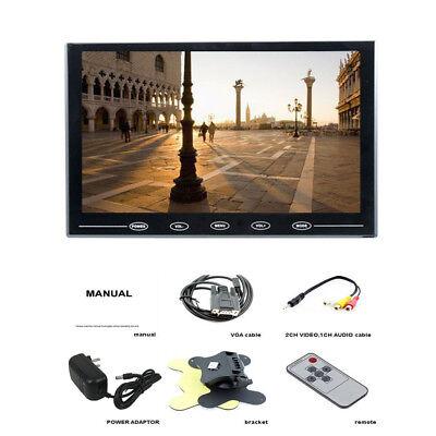 HD 9 Inch Ultra Thin TFT LCD Color HD Monitor HDMI VGA AV w/Speaker + Adapter