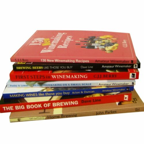 Home Brew Books Selection Wine Beer Grain Cider Making Recipes And more - CHOICE