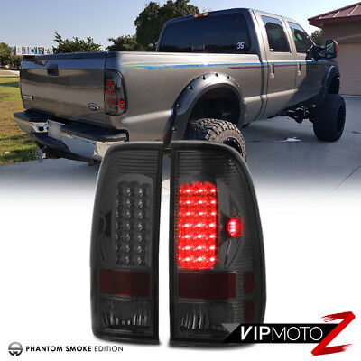 Ford 97-03 F150 99-07 F250/F350/F450 SD Super Duty Truck Smoke LED Tail Lights