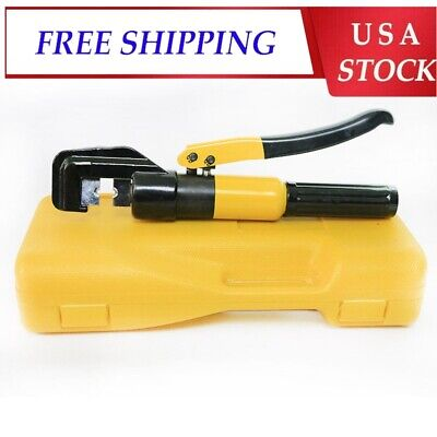 8-ton Hydraulic Crimping Tool Battery Cable Lug Wire Crimper Terminal 9 Dies