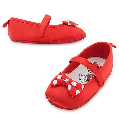 Disney Store Red Polka Dot Minnie Mouse Baby Costume Shoes sz 6 12 18 24 - Infant Minnie Mouse Costume