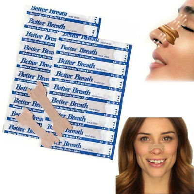 50-200 NASAL STRIPS (SMALL/MED/LARGE) Breathe Better & Reduce Snoring Right Now Breathe Right Nasal Strips