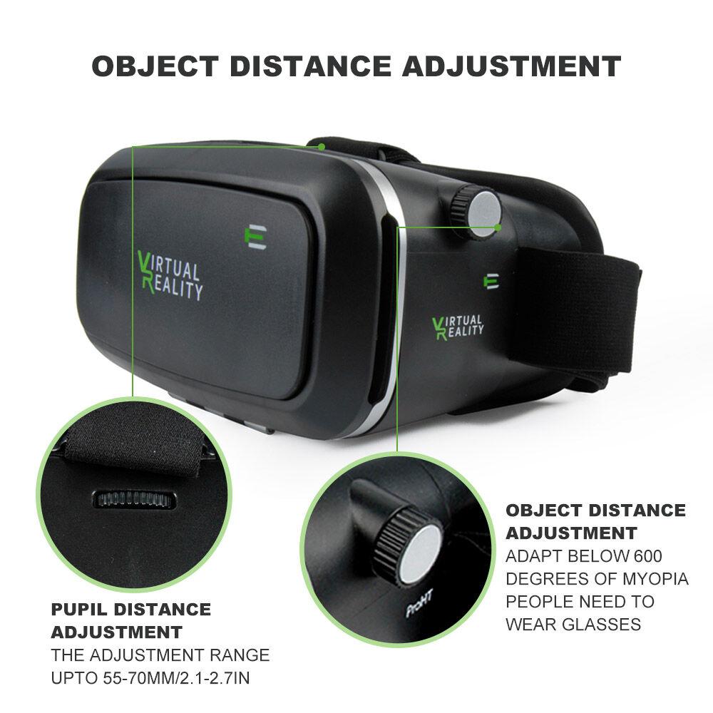 Vr Box 3d Glasses Headset Virtual Reality Video Movies Games Plus Remote Bluetooth 3 Of 12