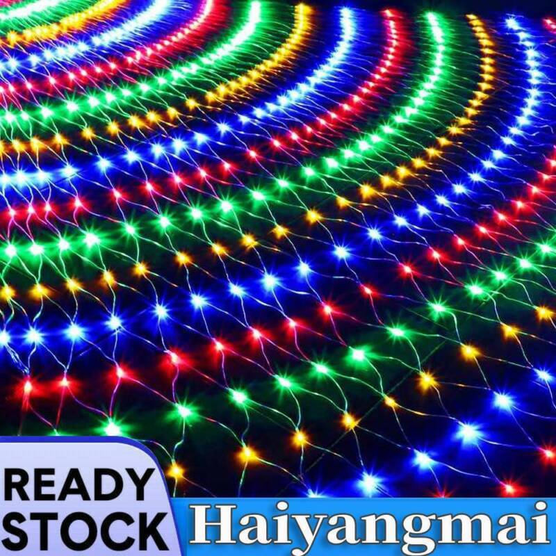 3%2A2M+LED+String+Fairy+Net+Lights+Curtain+Mesh+Waterproof+Christmas+Tree+Party
