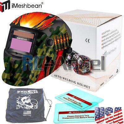 Rbt Solar Auto Darkening Welding Helmet Arc Tig Mig Certified Mask Grinding Bag