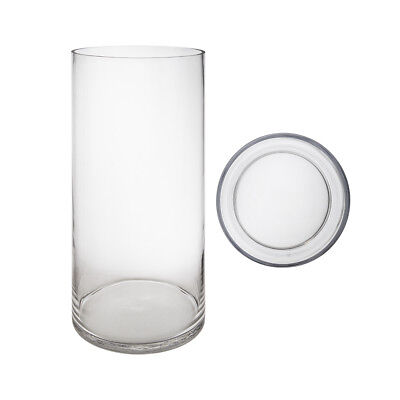 "Mega Vases - 8"" x 20"" Cylinder Glass Vase - 1 Piece, Clear"