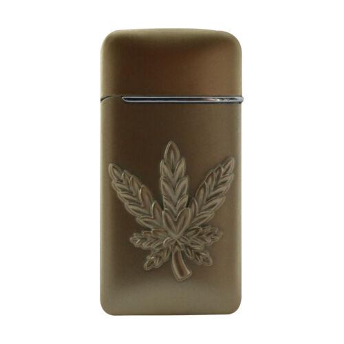 Slick Weed Design Single Jet Flame Butane Cigarette Cigar Torch Lighter – Gold