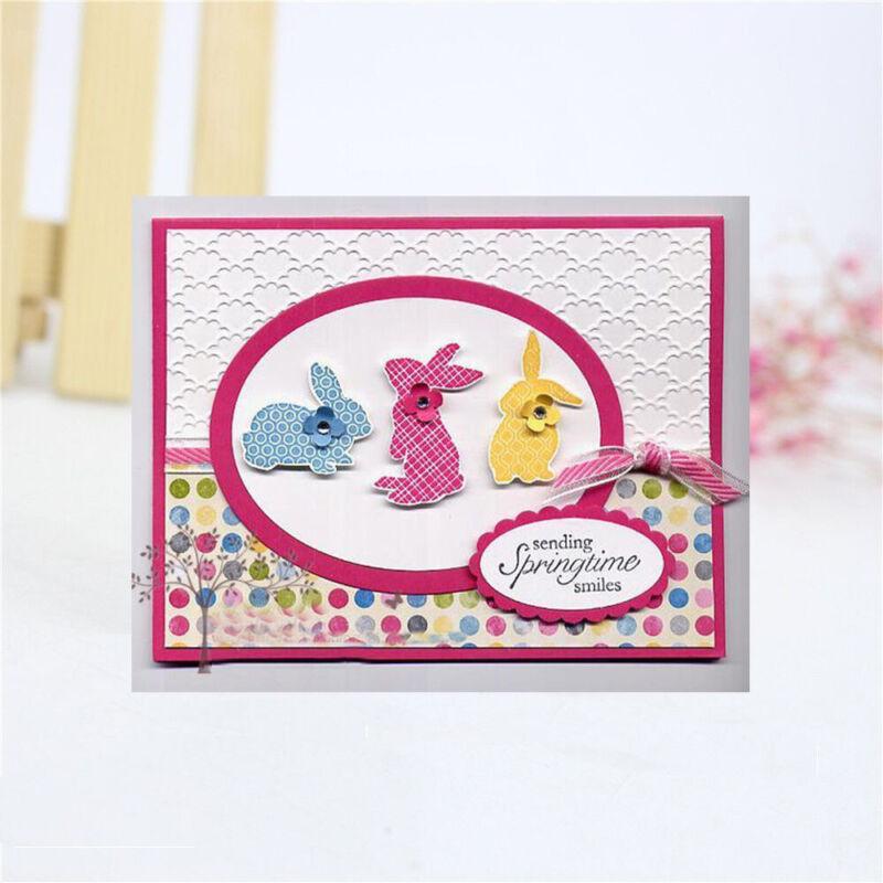 stahl scrapbooking kaninchen stanzformen prägung schablonen fotoalbum dekor