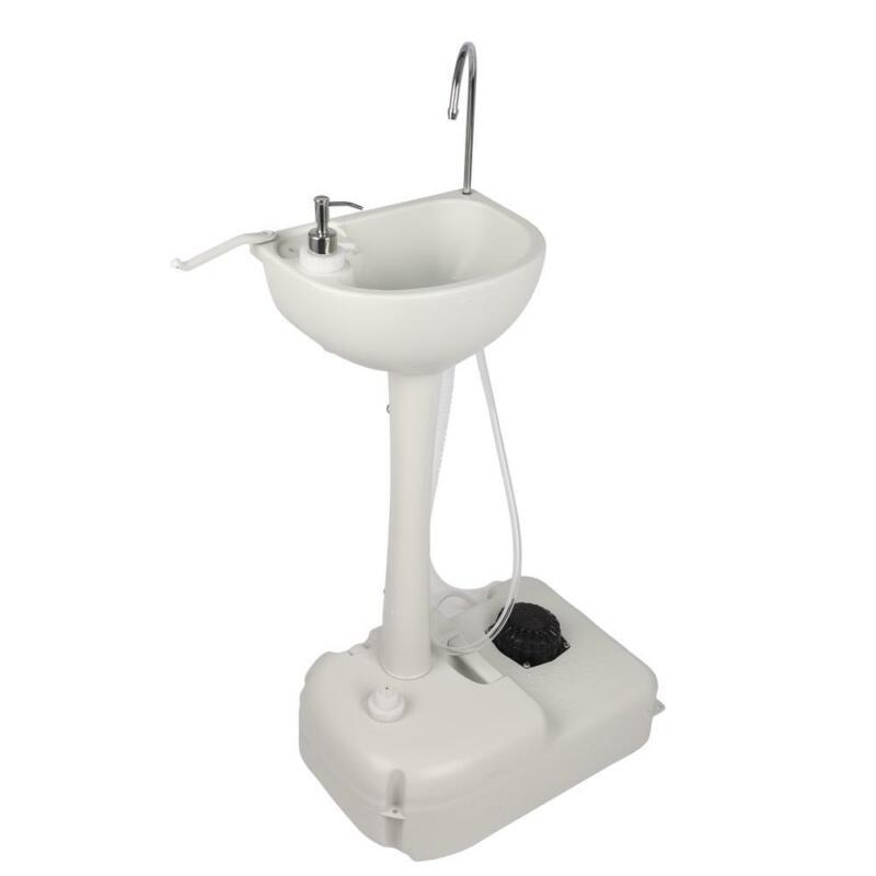 Camping Hygiene Sanitation Garden Sink Water Tank Wash Basin Portable RV Kitchen