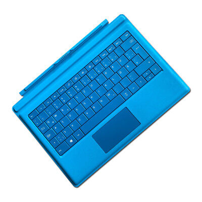 Original Microsoft Surface Pro 3 & Surface Pro 4 Tastatur BLAU *DEUTSCH*