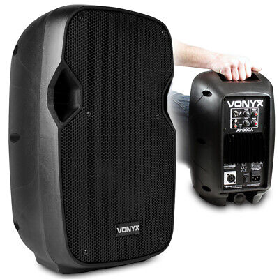 "B-Stock Vonyx AP800A Active Powered PA Speaker Small DJ Monitor 8"" Woofer"