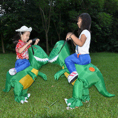 Inflatable T-Rex Dinosaur Costume Kids Child Adult  Dino Rider Halloween Dress - Dinosaur Adult