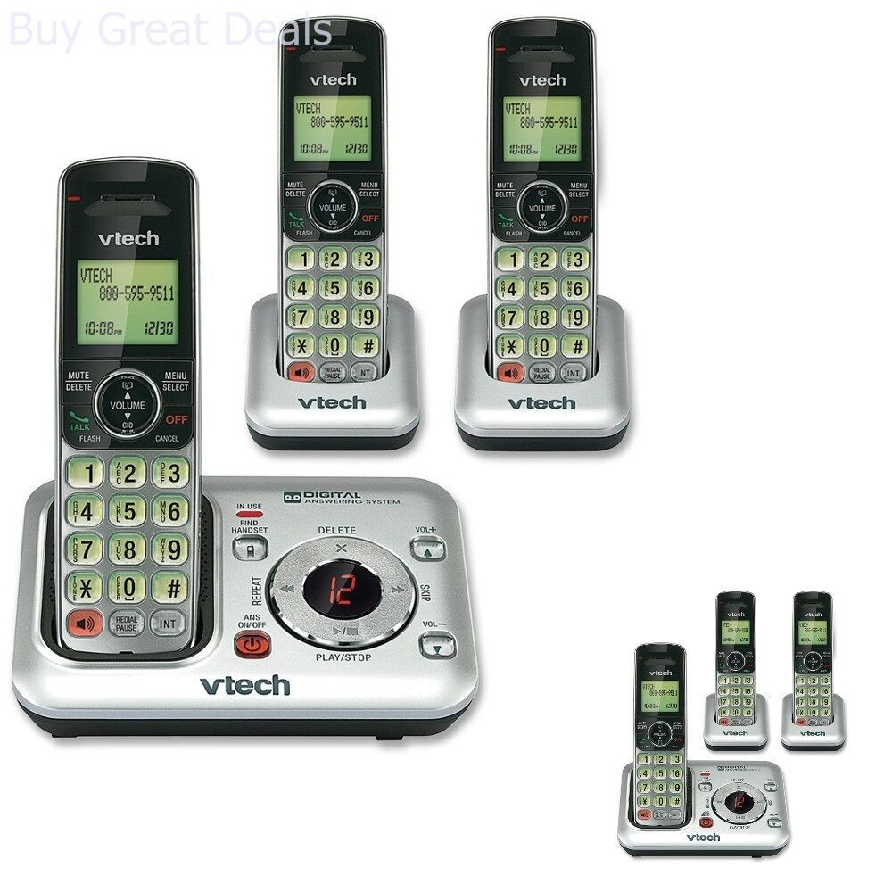VTech CS6429-3 3-Handset DECT 6.0 Cordless Phone with Answer