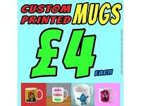 MUGS for sale - Custom printed to suit you - 10 mugs for £30 or £4 per single - each mug comes boxed