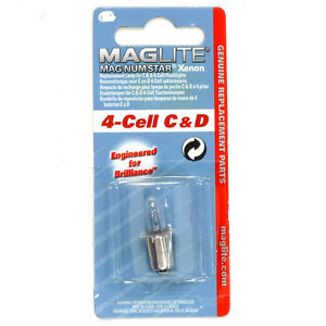 ***MAGLITE MAG-NUM STAR XENON REPLACEMENT LAMP for 4-CELL C & D FLASHLIGHTS***
