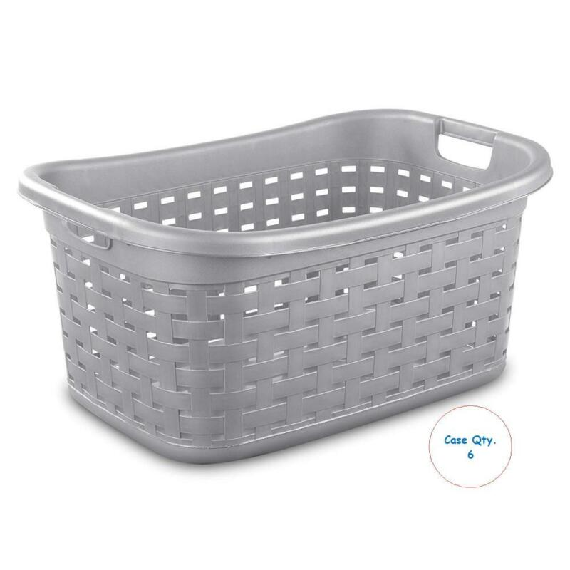 Sterilite 1275 Weave Laundry Basket, Cement - Case of 6