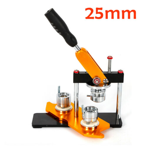 1 /25mm Rotated Button Maker Badge Punch Press Machine 100 Buttons Brand New - $79.60