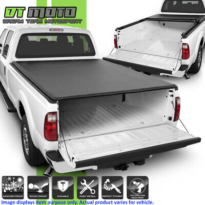 """Soft Roll Up Tonneau Cover For 1999-2018 Ford F250 SuperDuty 8 FT (96"""") Long Bed"""