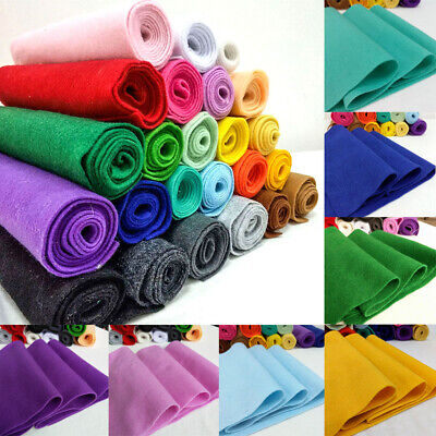 Soft Felt Fabric Metre 1.4mm Thick Non Woven DIY Craft Material Assorted Colours - Craft Materials