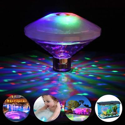 Floating Underwater LED Disco Lights Glow Show Swimming Pool Hot Tub Spa - Floating Led Lights