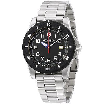 Victorinox Swiss Army Black Dial Stainless Steel Men's Watch 241675
