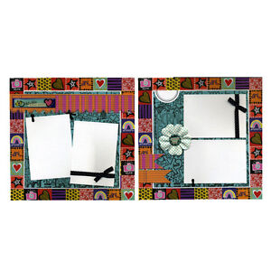 Two Coordinating Scrapbook Pages - Picture Perfect