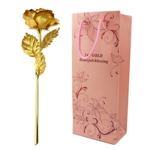 VALENTINE'S 24K GOLD PLATED ROSE UNIQUE GIFT ROMANTIC WITH GIFT BOX