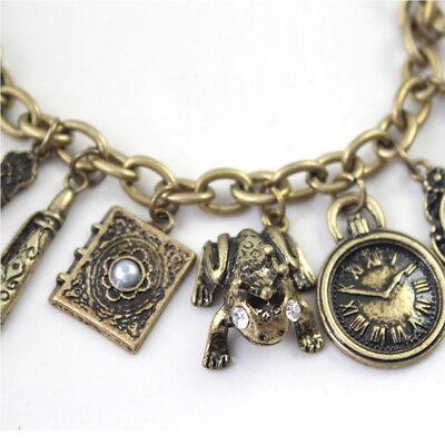 Mirror Teapot Frog Clock Heart Bangle Charms Wholesale Multielement Bracelet