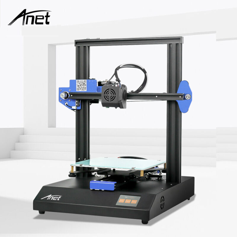 Anet ET4X 3D Printer 220*220*250mm High Precision Resume Printing Desktop DIY US