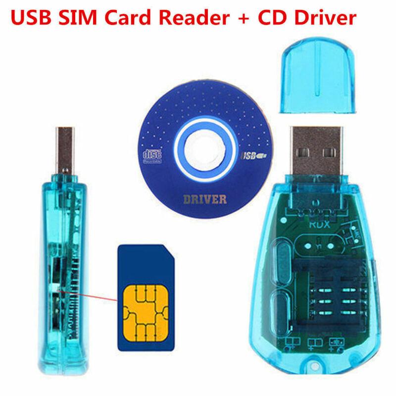 USB SIM Card Reader Writer Clone Copier Backup Adapter + Driver GSM 3G TH