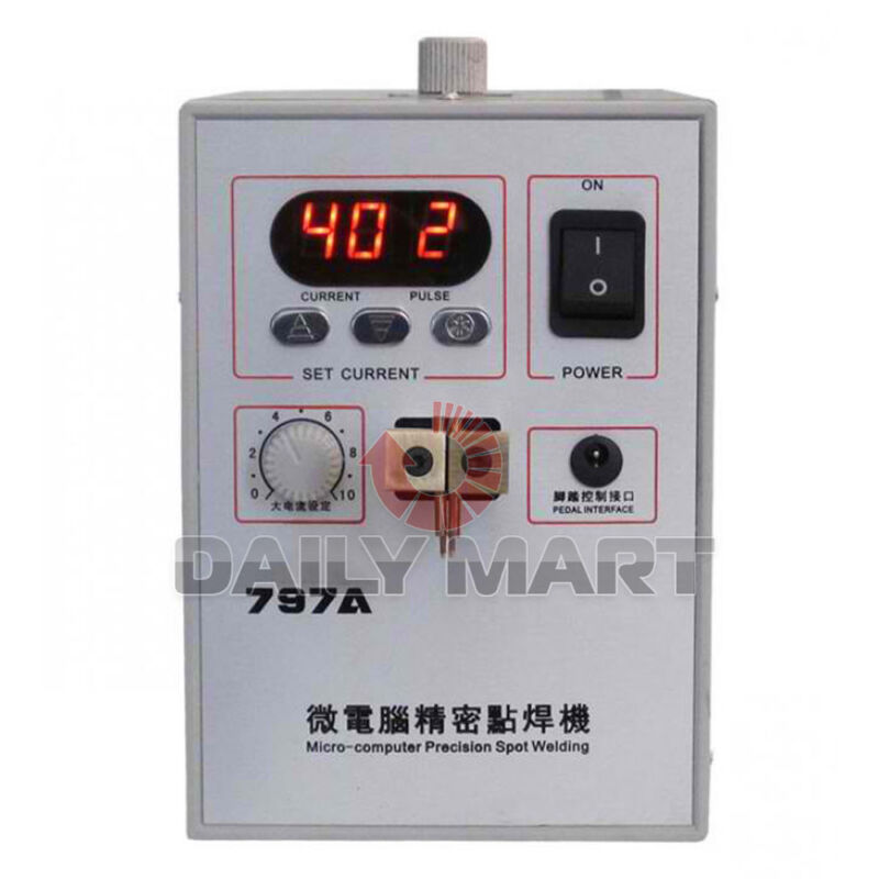 797A Micro-computer Single/Dual/16 Pulse Spot Welder Welding Machine