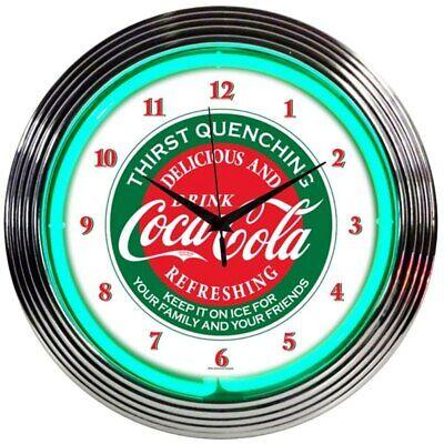 Coca-Cola Evergreen Neon Clock