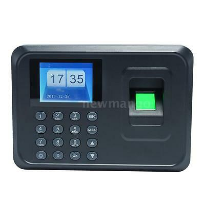 Biometric Fingerprint Time Attendance Clock Employee Recorder Usb Tcp A5 Us R4g9
