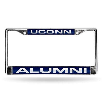 Connecticut UCONN Huskies Alumni Chrome Metal Laser Cut License Plate Frame