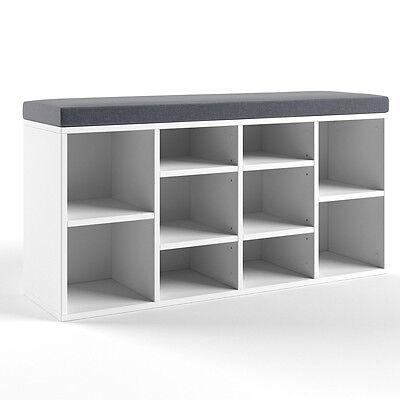 vicco schuhschrank schuhbank schrank regal 10 paar schuhe auflage sitzbank weiss ebay. Black Bedroom Furniture Sets. Home Design Ideas
