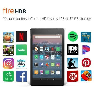 """Amazon Kindle Fire HD 8 8"""" Tablet 32GB (Previous Generation 7th, 2017) - Black"""