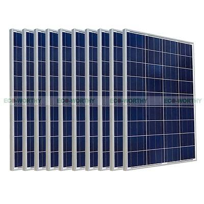 1000W 1KW 10pcs 100W Solar Panel for Roof Way Home Power Charge Application
