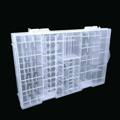 Battery Storage Box Case Holder Container Organizer Clear For 50pc AAA AA 9V C D