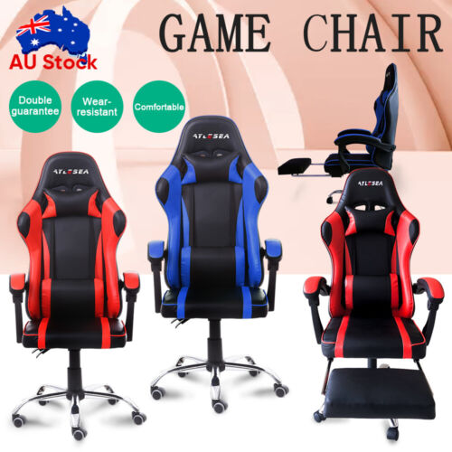 game computer - Gaming Chair Office Executive Computer Game Chairs Seating Racing Recliner NEW