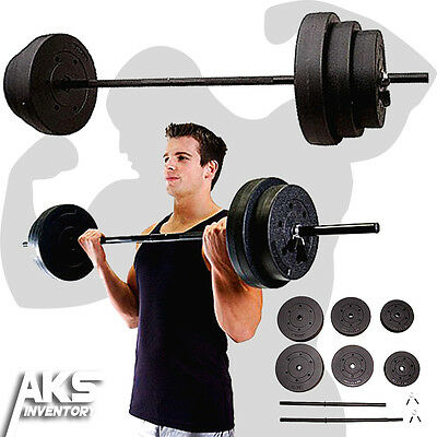 100lb Barbell Free Weights Home Gym Fitness Equipment Adjustable Weight Set New
