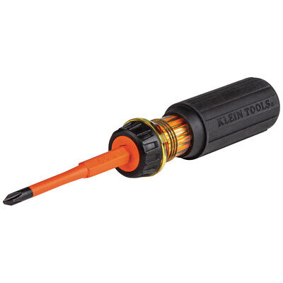 Klein Tool 2-in-1 Insulated Screwdriver 2 Phillip And 14-inch Straight